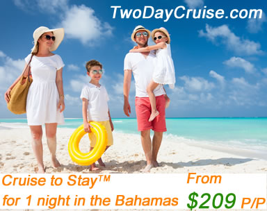 two day cruise 1 night stay in Freeport Bahamas